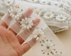 or perle perle lourd garniture dentelle perle en par LaceFun