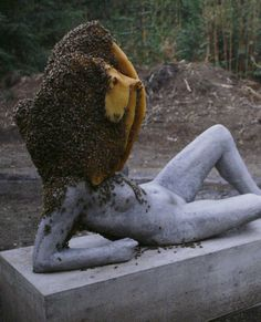 Pierre Huyghe bee sculpture at the Centre Pompidou