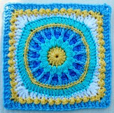 Ravelry: Maryfairy's Framed Flower - Week 34 BAWL CAL. Free pattern