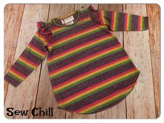 """Sew Chill """"skittles"""" flutter tunic top - just a few left!  http://www.sewchill.com/collections/all"""