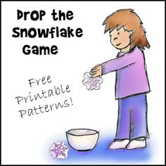 Drop the Snowflake Game with Free Printable Snowflake Patterns from www.daniellesplace.com
