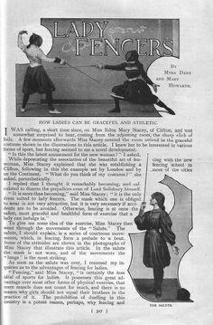 Harmsworth Magazine July 1899 Lady Fencers Page 1