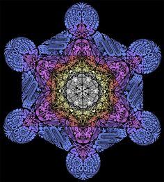 metatron's cube | mandala based on the sacred geometry of Metatron's Cube.