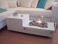 Fun modern coffee table - Keep your coffee hot!