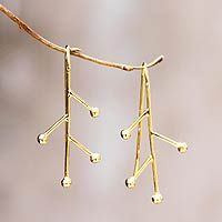 Pretty drop earrings.  they look like little branches.