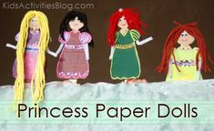 Anyone princess-crazy at your house?  These adorable DIY paper princess dolls may be the perfect weekend project. MouseTalesTravel.com  #MTT #disneydiy #easycrafts #princess