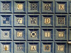 Tiles in Colegio Militar Luz Metro Station in Lisbon