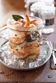 Game Day Appetizer: Bobby's Pickled Shrimp in a Jar - These tangy and sweet little shrimp need to pickle for a few days. Served with a cold beer, they make a great snack while you heat up the grill.
