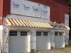 Fabrication Pergola Bois - Pergola With Roof Screened Porches - - Plan Garage, Garage Roof, Garage Exterior, Garage Pergola, Patio Roof, Garage Kits, Diy Garage, Garage Trellis, Deck Pergola