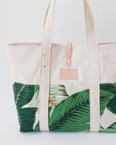 Tropical Canvas Beach Tote Martinique Beverly by theAtlanticOcean