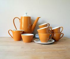 orange!  not mod, but not your normal tea set.  My mother had this set in the 1960's.