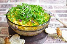 Aga w kuchni: Warstwowa sałatka z łososiem