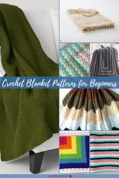 Make a beautiful crochet blanket, even if you're a complete beginner! With 25+ Comfy Crochet Blanket Patterns for Beginners, you'll find lots! Basket Weave Crochet, Easy Crochet Blanket, Crochet For Beginners Blanket, Baby Afghan Crochet, Afghan Crochet Patterns, Crochet Blankets, Beginner Crochet, Baby Afghans, Crochet Poncho