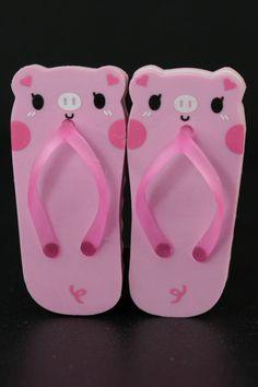 Pair of Pig Sandal Erasers