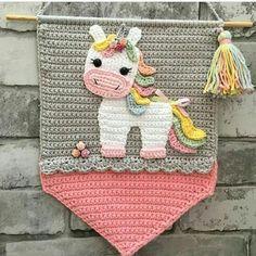 Crochet Craft Fair, Crochet Wall Art, Crochet Wall Hangings, Tapestry Crochet, Crochet Home, Cute Crochet, Crochet Crafts, Crochet Yarn, Crochet Flowers