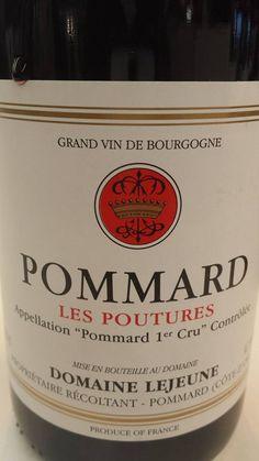 Wine of the day // Vin du jour : Domaine Lejeune – Les Poutures 2012 – Pommard 1er Cru (15 /20) http://vertdevin.com/vin/domaine-lejeune-les-poutures-2012-pommard-1er-cru/etiquettes autocollantes et adhésives ETIQUETTOO.com