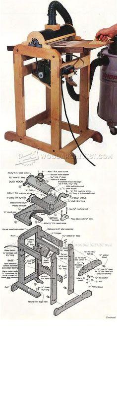 Drum Sander Plans - Sanding Tips, Jigs and Techniques   WoodArchivist.com Woodworking Jigs
