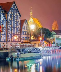 Bydgoszcz # Night lights # Poland
