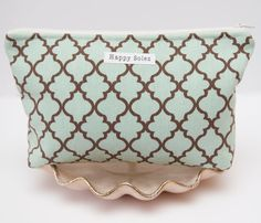 lovely patterned zipper pouch