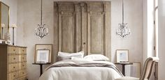 Restoration Hardware - 19th Cent. French carved door bed
