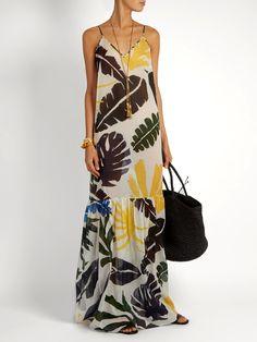 Leaf-print cotton maxi dress   Kalmar   MATCHESFASHION.COM