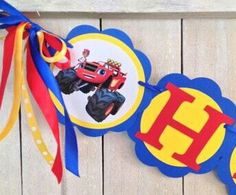 Blaze and the Monster Machines Birthday banner Blaze Invitations Blaze and the Monster Machines tags Blaze. Machines Party Blaze I am 1 by MerryMakersPapier on Etsy https://www.etsy.com/listing/217364887/blaze-and-the-monster-machines-birthday
