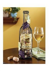 Grape Kitchen Items | Grapes Kitchen Decor | Wine-Bottle-Table-Top-Cork-Holder-Rack-Grapes ...