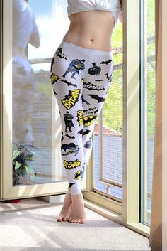 Stay stylish in some patterned leggings. | 18 Stylish Ways To Showcase Your Inner Geek This Summer