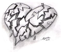 pictures broken heart drawing ideas - broken heart drawings in pencil Broken Heart Drawings, Broken Heart Art, Broken Heart Tattoo, Shattered Heart, Sad Drawings, Cool Art Drawings, Pencil Art Drawings, Art Drawings Sketches, Heart Pencil Drawing