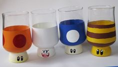Super Mario cups! If we can find cups that same shape, my son and I are TOTALLY doing this!