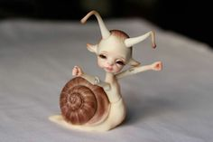 OOAK Larry the Snail by Doll Chateau
