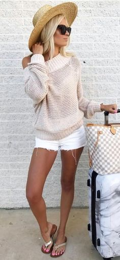 Preppy Summer Outfits To Inspire You - Nails / Make up / Hairs / Mode ☆ - Summer Dress Outfits Preppy Summer Outfits, Spring Outfits, Casual Outfits, Hat Outfits, Preppy Clothes, Mode Outfits, Fashion Outfits, Fashion Tips, 90s Fashion