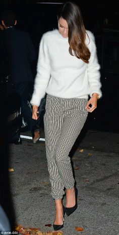 Elegant outfit idea! Like this fluffy jumper? Find similar at http://mandysheaven.co.uk/ - Womens Fashion Boutique UK