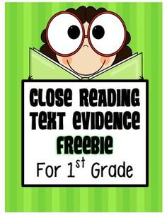FREEBIE! First Grade: Close Reading and Text Evidence Samples