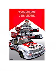 1983 Bathurst Winner Australian Muscle Cars, Aussie Muscle Cars, Holden Australia, V8 Supercars, Holden Commodore, Sports Sedan, Motor Car, Motor Sport, Car Logos