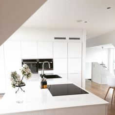 @aesencecom / minimal home inspo / minimal white kitchen