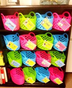 Daily 5 book bins-Love this and I need to find space and enough baskets