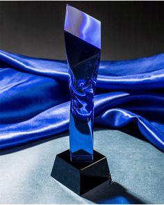 Regali di lusso unico premio di cristallo azzurro Crystal Awards, Blue Crystals, Lava Lamp, Table Lamp, Decor, Crystals, Glass, Decoration, Decorating