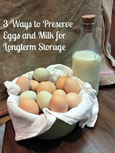 3 Ways to Preserve Eggs and Milk for Long-term Storage : Do you know how to preserve eggs and milk for the long term - without storing them in your refrigerator or freezer? - The Survival Mom Emergency Food, Survival Food, Survival Prepping, Emergency Preparedness, Homestead Survival, Survival Skills, Wilderness Survival, Prepper Food, Survival Supplies