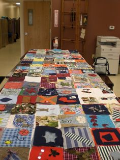 This is an example of a novel quilt that was made for The Boy in the Striped Pajamas. Could be made for any number of other pieces of literature.