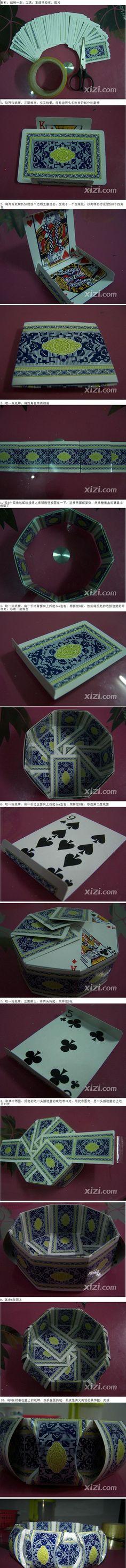 DIY Playing Cards Bowl