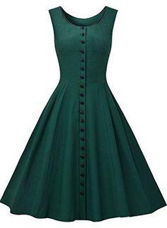 Missmay Women s Audrey Hepburn Sleeveless Retro Swing Rockabilly Evening  Dress Rockabilly Stílus 48b39a197a