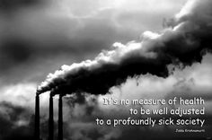 It is no measure of health to be well-adjusted to a profoundly sick society.