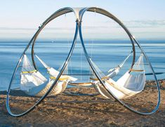 An amazing work of art, or the most incredible and award winning triple hammock stand combo ever created? Both, of course! At Trinity Hammocks, design, comfort and durability are the foremost priorities to let you enjoy outdoor living without ever leaving Hammock Swing, Hammock Chair, Hammocks, Outdoor Hammock, Hammock Ideas, Baby Hammock, Backyard Hammock, Hanging Hammock, Interiors