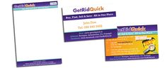 Stationery design for Get Rid Quick