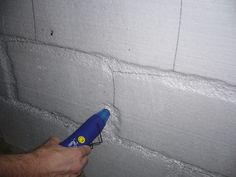 use a heat gun to create the mortar between bricks or stone for foam walls.