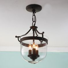 Mini Smokebell Semi-Flush Ceiling Light...I want 2 to hang over the island