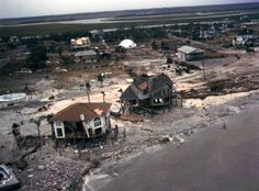 Sullivan's Island after Hugo September 1989. The white, round looking house was actually built to withstand hurricanes. It's still there today, Jan 2012