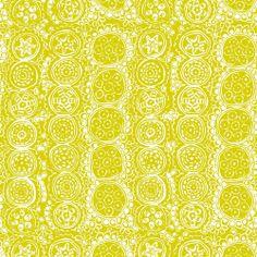 Marimekko Praliini Lime Upholstery Fabric - Marimekko Upholstery Fabrics