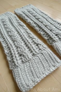 cabled crochet leg warmers